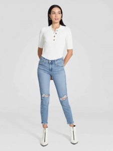 Nobody Denim midi slim jean ankle blitz