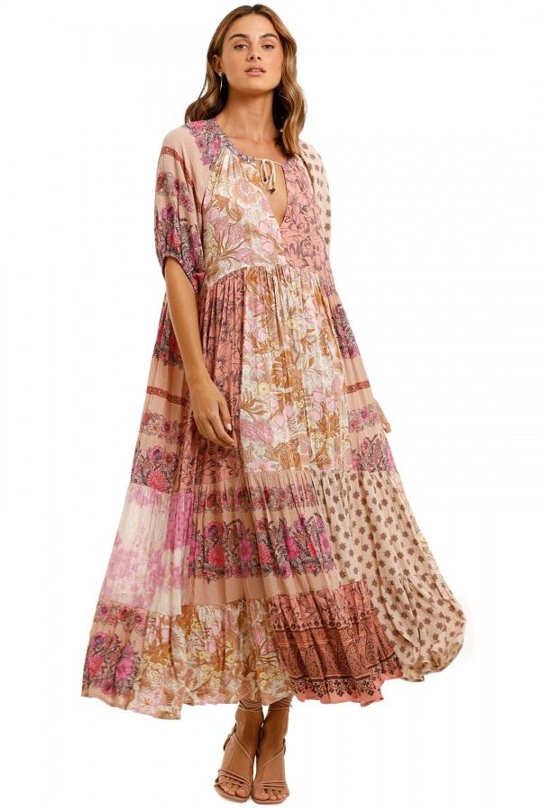 Spell Renew Patchwork Gown