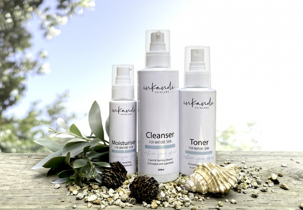 Inkandi's mature range formulated to help regain your glow