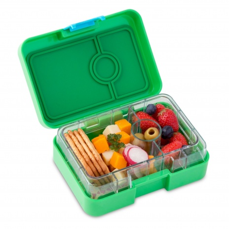 Yumbox MiniSnack - 3 compartment Ami Green 2 - high res
