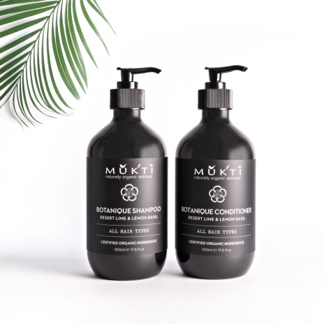 Mukti shampoo and conditioner