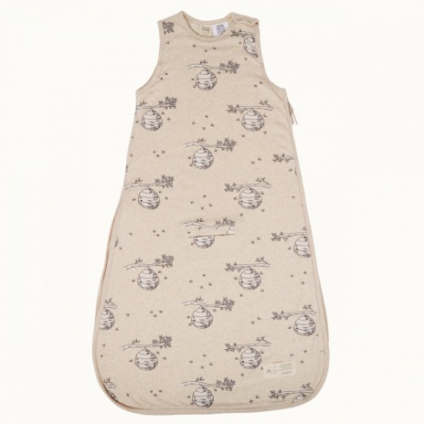 nature baby nb11171_cotton_sleepingbag_beehive_front_view