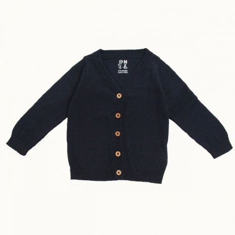 nature baby nb11862_lightcottonknitcardigan_navy_front_web_view