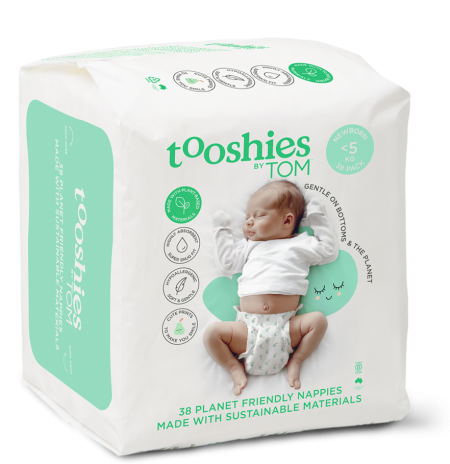 Tooshies by Tom newborn nappies