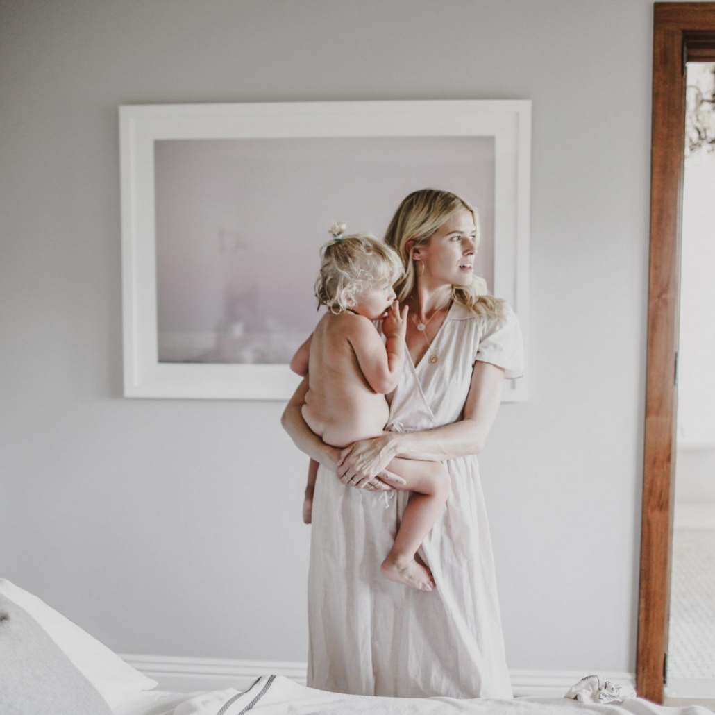 Sarah Wright Olsen and her daughter, Esme