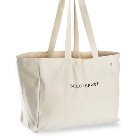 Seed & Sprout organic canvas tote bag