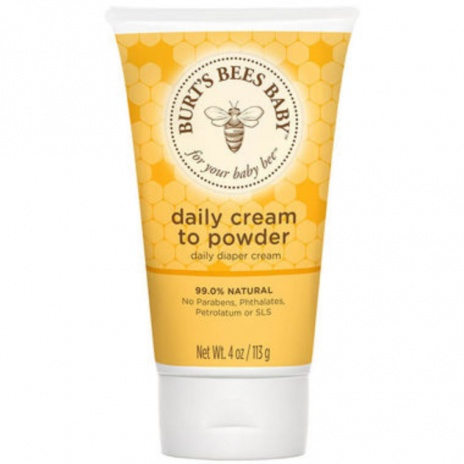 burts bees baby cream to powder