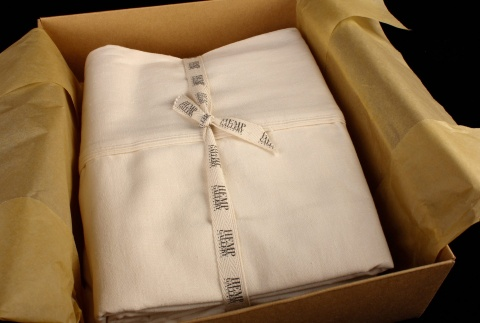 Hemp Gallery's sheets made from a combination of hep and certified organic cotton
