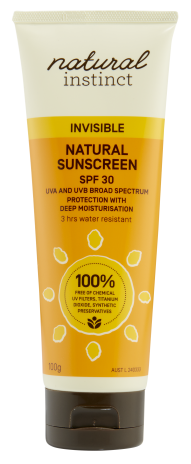 Natural Instinct Invisible Sunscreen SPF30 100g