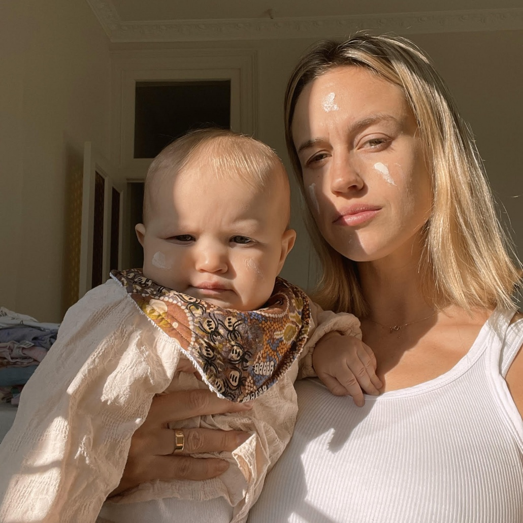 Julia Cacciotti and baby Margot
