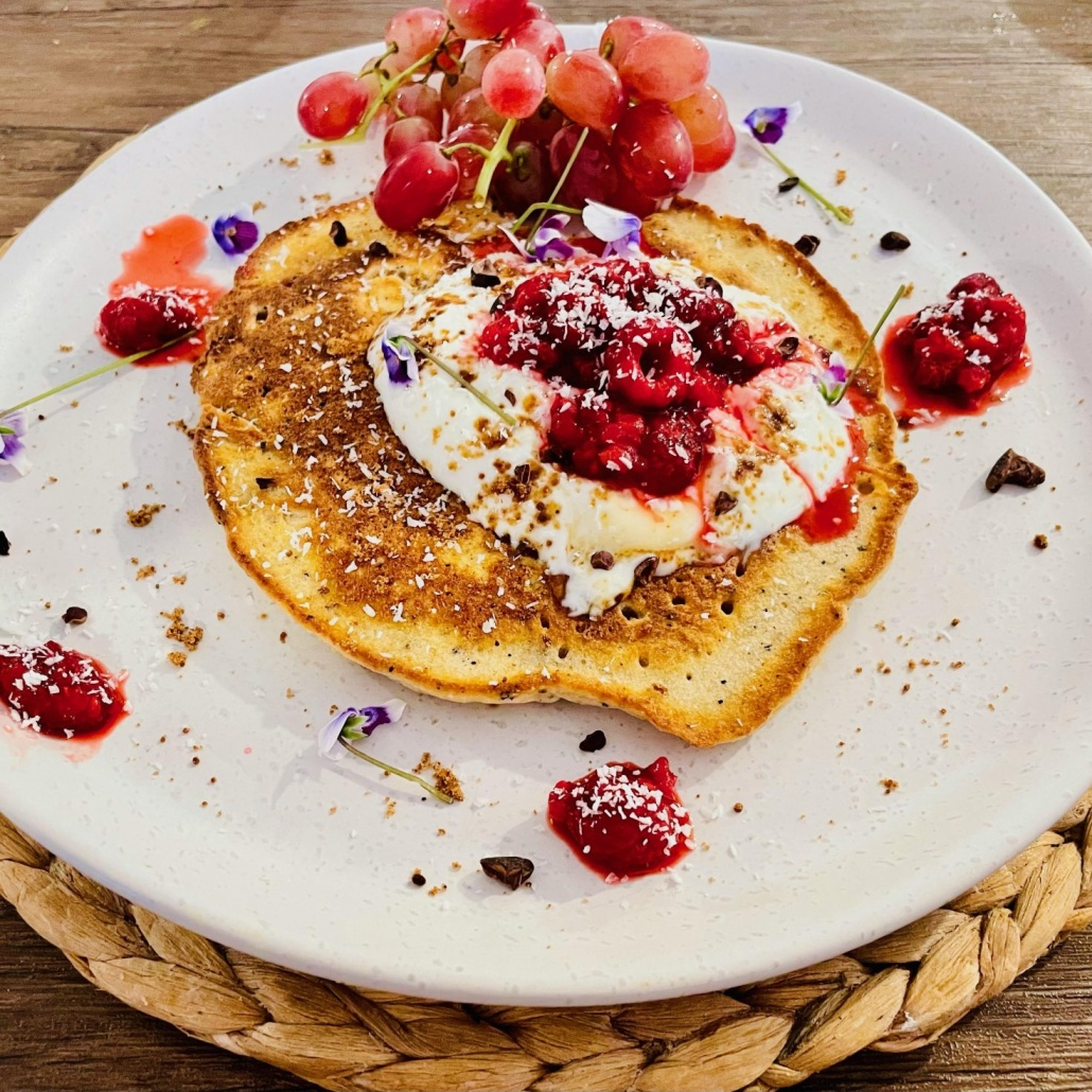 A Bush to Bowl wattle seed infused pancake