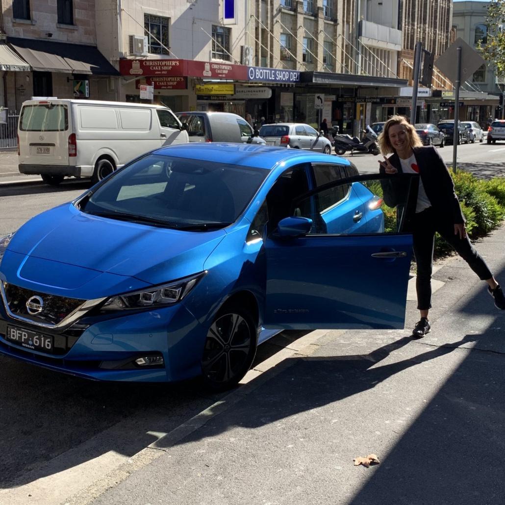 Jenny Ringland and a Nissan Leaf e+