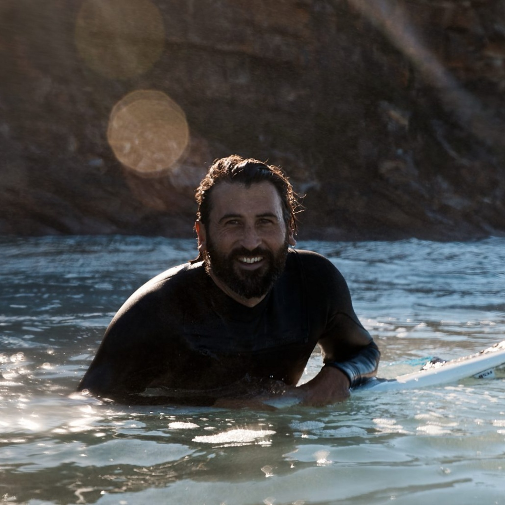 Tim Silverwood in the surf